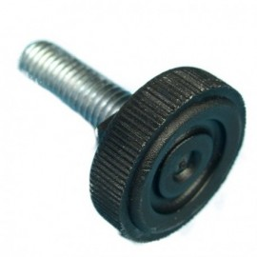 Vérin de pied noir Ø 30 mm tige 10 mm