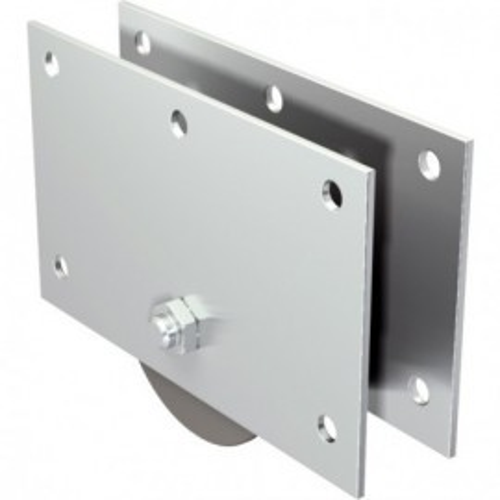 Kopfdeckel en acier inoxydable sans rôle pour freitragendes portail coulissant; 100616