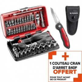 Coffret serrage-vissage R360NANO 1/4'' + 1 couteau 840.F offert