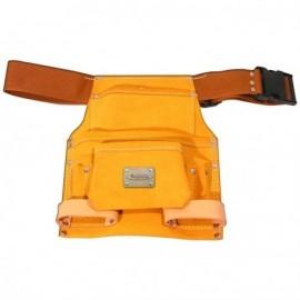 Tablier cuir 9 poches avec ceinture