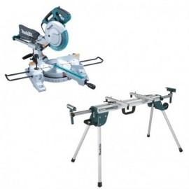 Scie radiale laser Ø 260 mm 1430W + Etabli